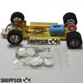 H&R 1/24 scale adjustable slot car chassis, foam tires