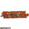 JK Stock car numbers (Orange)