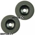 "JK Small Hub, 1/8"" Axle, .765 natural rubber tires"