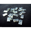 JK Silver plated copper lead wire clips (1 pair)