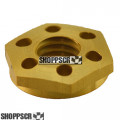 Koford gold anodized drilled aluminum guide nut