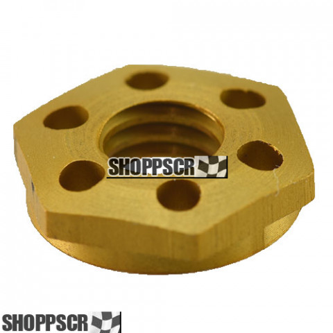 Koford gold anodized drilled aluminum guide nut - KM302