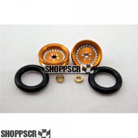 "Pro Track Classic Series Wheelie bar wheels, 3/8"", Gold"