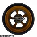 """Pro Track Evolution Series Wheelie bar wheels, 3/8"""", Gold"""