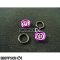 "Pro Track Evolution Series Wheelie bar wheels, 3/8"", Purple"