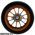 Pro Track Turbine Series CNC Drag Front Wheels, 3/4 O-Ring, Gold