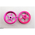 Pro Track Pro Star Series CNC Drag Front Wheels, 3/4 O-Ring, Pink *Limited Edition*
