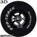 Pro Track Evolution Series CNC Drag Rears, 3D Design, 1 1/16 x .435, Black
