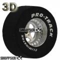 Pro Track Star Series Drag Rears,1 1/16 x .500, 3D