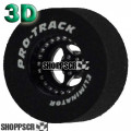 Pro Track Star Series Drag Rears,1 3/16 x .500, 3D, Black