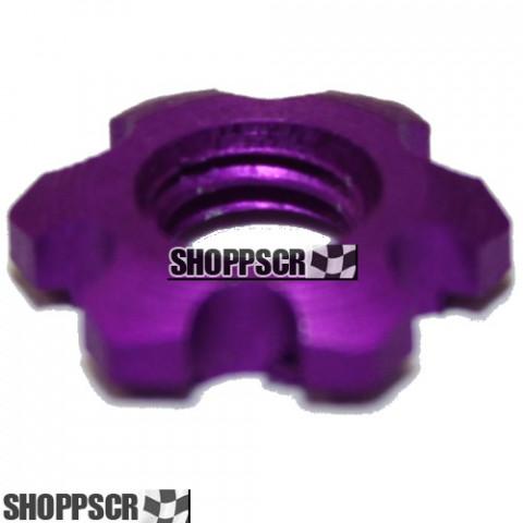 "Sonic ""Grape Nut"" purple anodized lightweight guide nut"