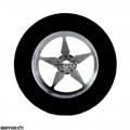 "3/32 x 1 3/16 x .500 20"" Chico Drag Rear Wheels, Nat. Rubber"