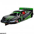 """1:24 Scale RTR, 4"""" Cheetah 21 Chassis, Hawk 7, 64 Pitch, Stock Car, Toyota Custom Body, Monster Energy #1 Livery"""