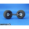 JK 3/32 x .750 x .400 Plastic Hub Front Wheels, Firm Rubber